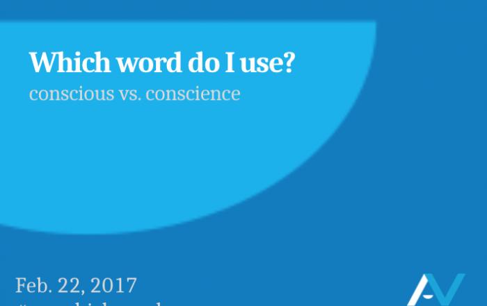 Conscious vs. conscience